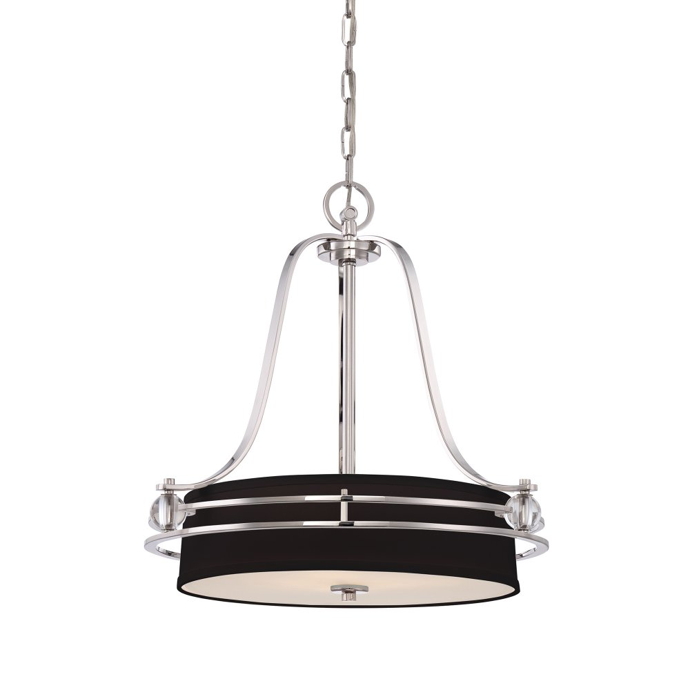 Art Deco Black And Silver Hanging Ceiling Pendant Light