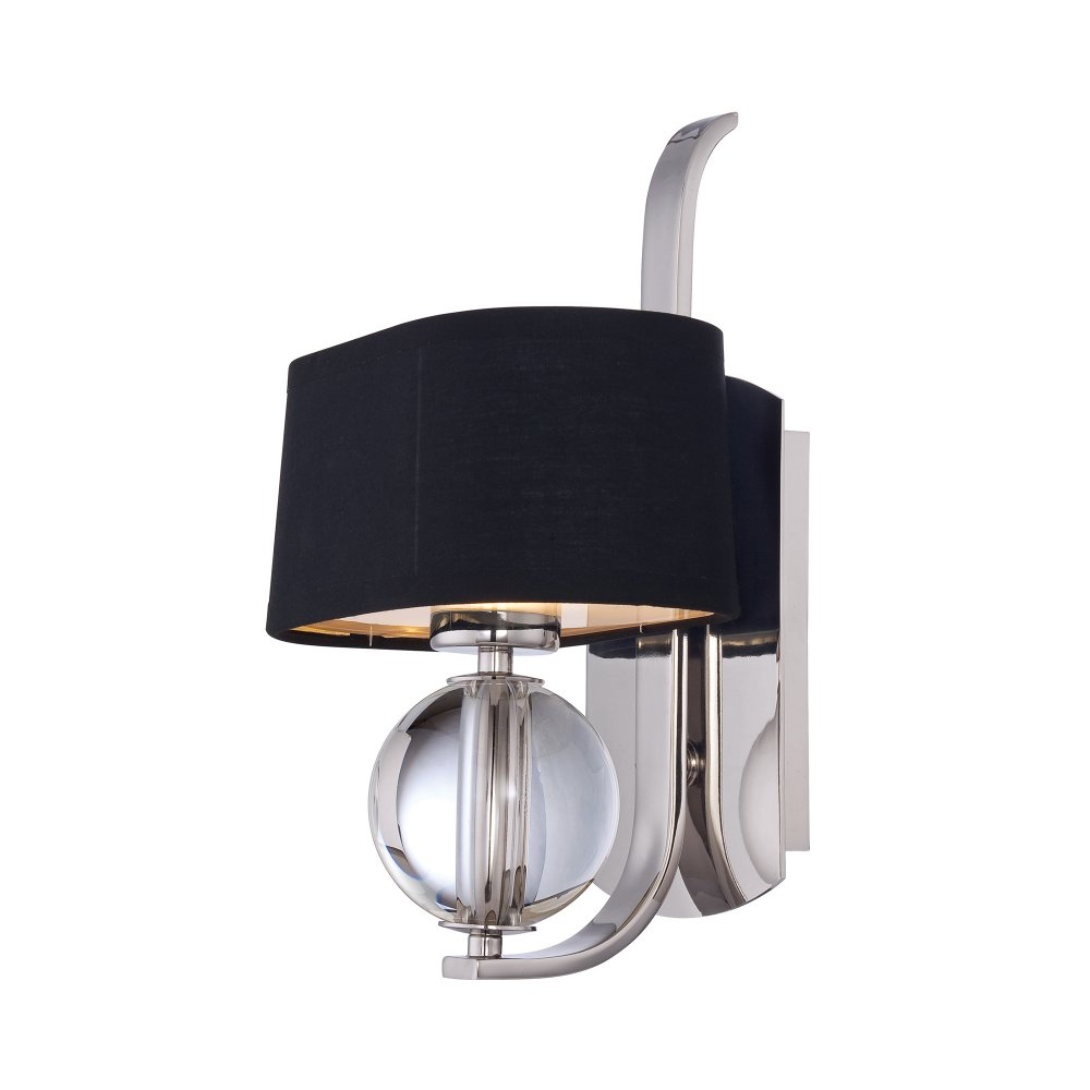 Black and Silver Modern Art Deco Wall Light