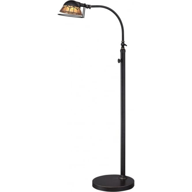 Broadway American Collection WHITNEY industrial style LED adjustable floor lamp for reading