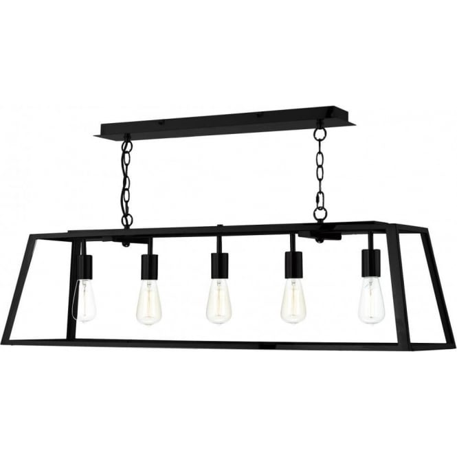 Kitchen Academy: Black Long Bar Pendant Suspension Light For Over Kitchen