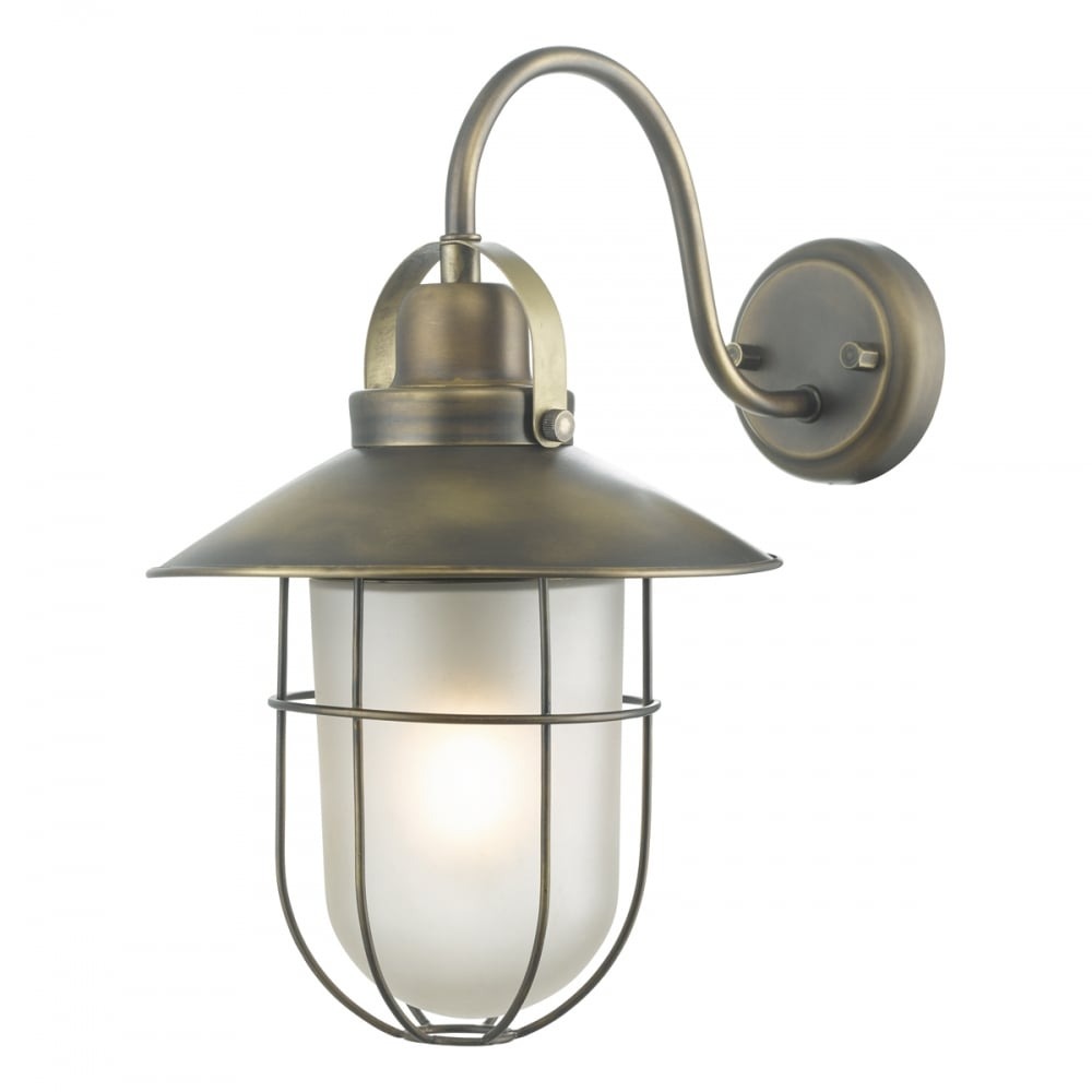 Outdoor Lighting Companies: Nautical Design Outdoor Wall Lantern In Solid Weathered