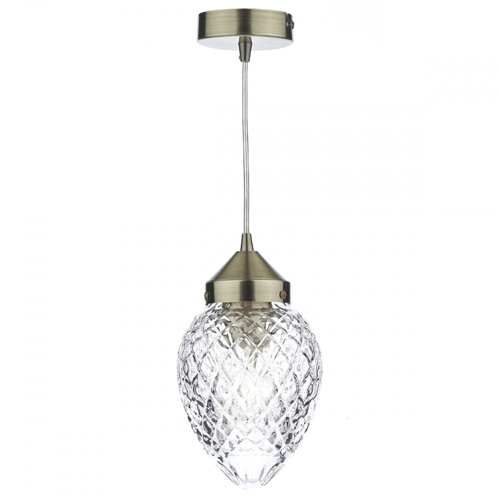 lighting pendants glass. AGATHA Small Antique Brass Pendant Light With Cut Glass Shade Lighting Pendants