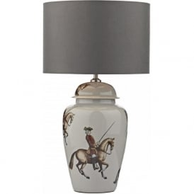 AIDAN oriental style ceramic base table lamp with shade