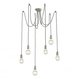 ALFREDO industrial syle bare bulb cluster pendant