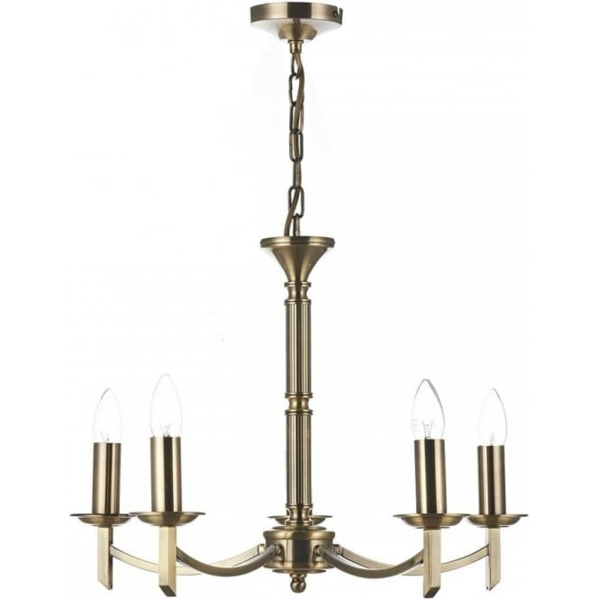 Cambridge Lighting AMBASSADOR traditional 5 light antique brass chandelier