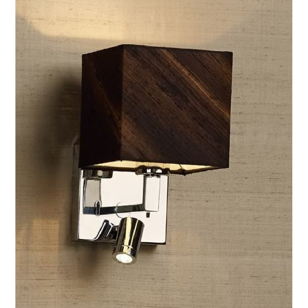 Contemporary Bedroom Wall Lights: Modern Over Bed Wall Light In Chrome With Integral LED