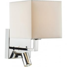 ANVIL modern chrome bedroom wall light with LED book light