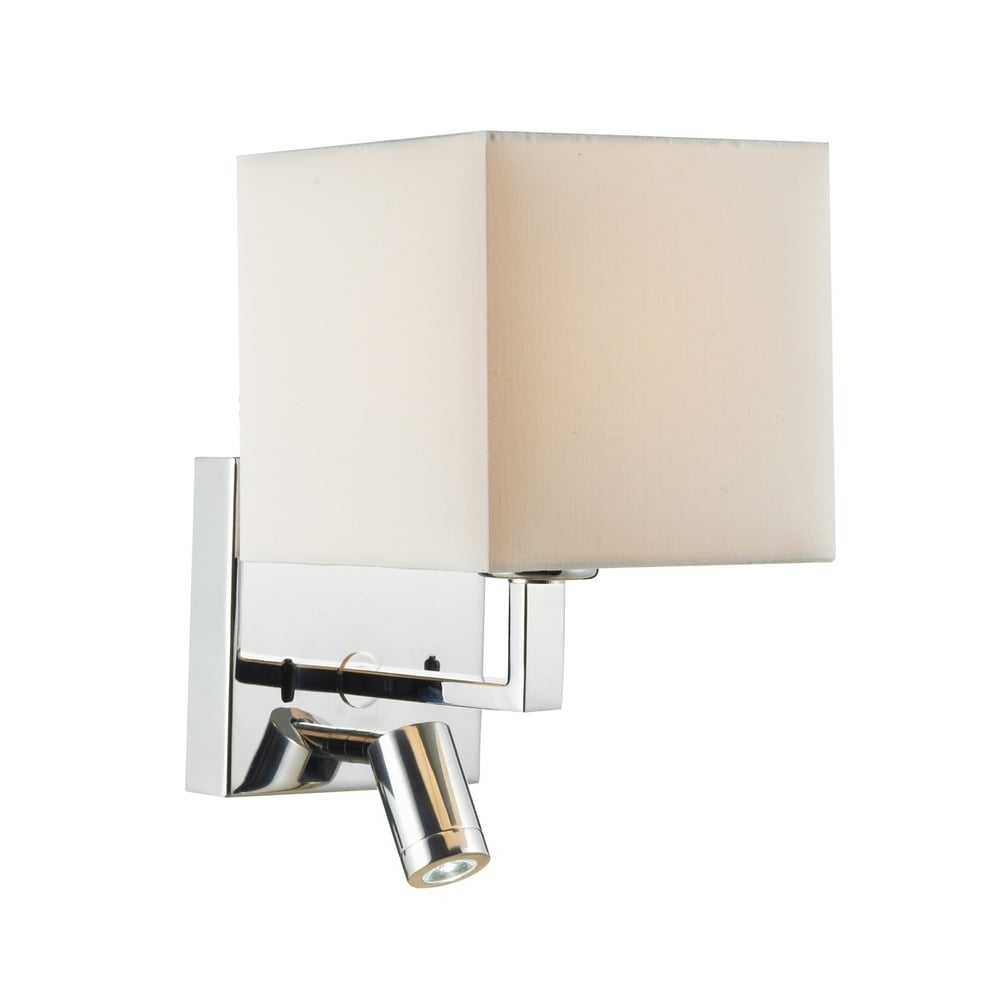 Modern over bed reading wall lights with integral led for Wall light with reading light
