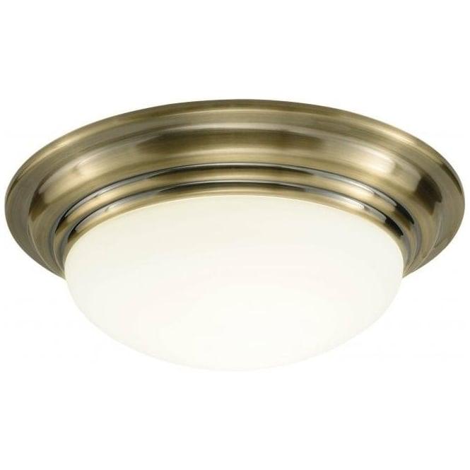 Traditional Bathroom Ceiling Light BARCLAY Flush Fitting IP44