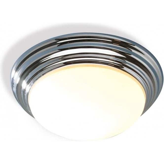Traditional Bathroom Barclay Flush Fitting Glass Ceiling Light
