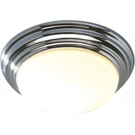 BARCLAY small chrome flush bathroom ceiling light