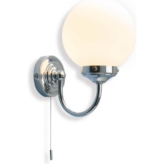 Traditional victorian bathroom wall light with pull switch ip44 barclay traditional chrome bathroom wall light aloadofball Images