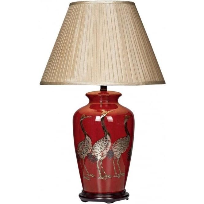 Ceramic Table Lamp Oriental High Lustre Lamp Bertha Exotic