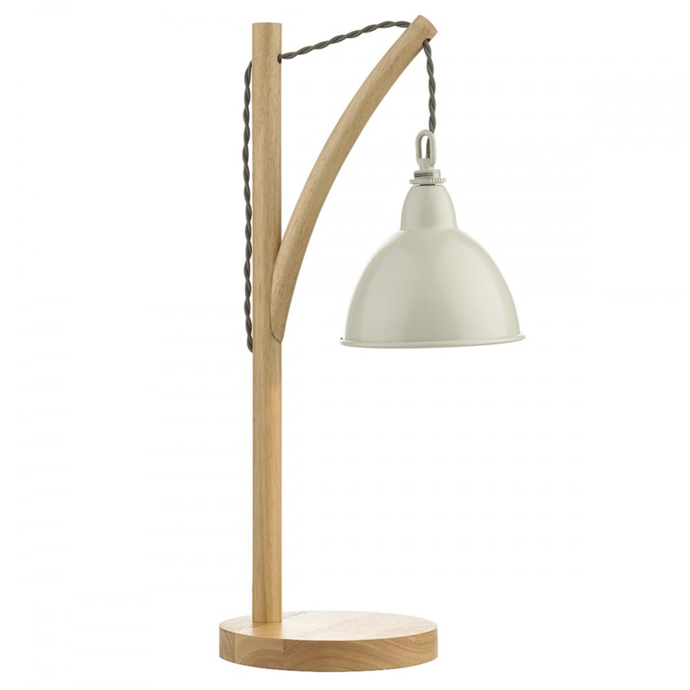 Scaffold Design Hanging Wall Light with Wooden Frame and Cream Shade