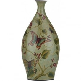 BOTANIC cermaic vase with butterfly pattern