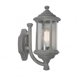 BROMPTON traditional outdoor wall light in old iron finish