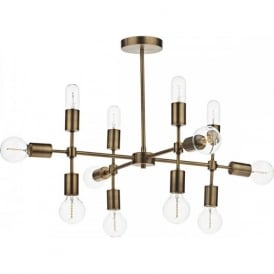 CODE large open frame old gold featue ceiling light