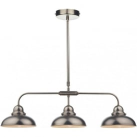 DYNAMO 3 light bar pendant in antique chrome