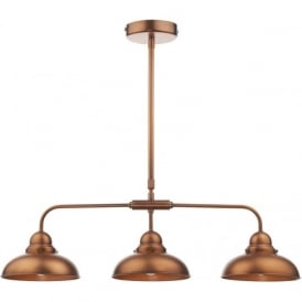 DYNAMO 3 light bar pendant in antique copper