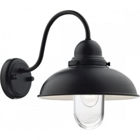 DYNAMO matt black exterior garden wall light IP44