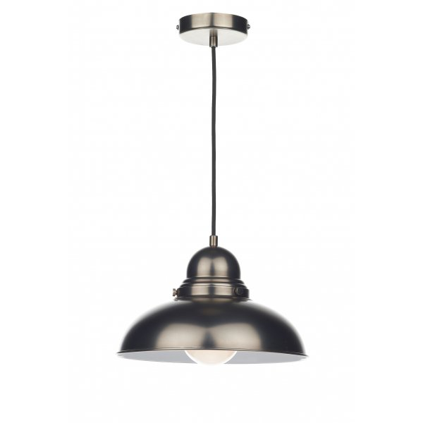 Antique Chrome Retro Style Ceiling Pendant For Over