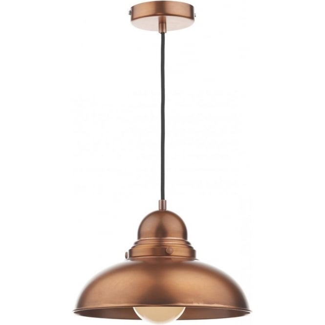 Double Insulated Antique Copper Ceiling Pendant For