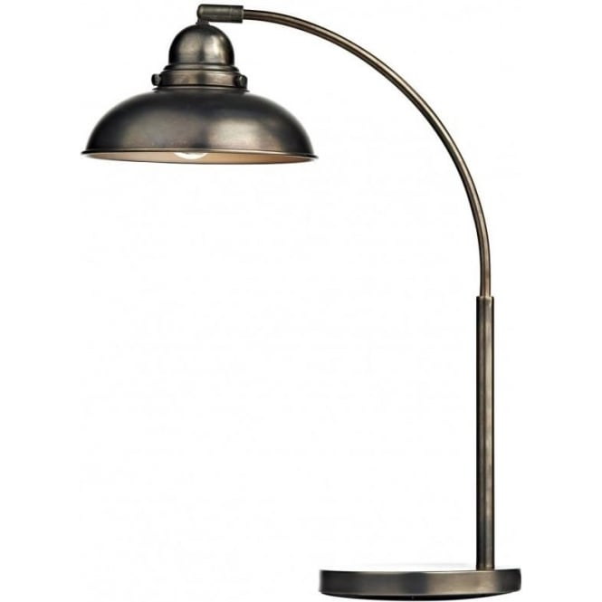 Cambridge Lighting DYNAMO retro style table lamp or desk light in antique chrome
