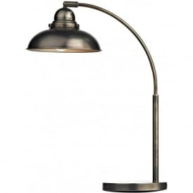 DYNAMO retro style table lamp or desk light in antique chrome