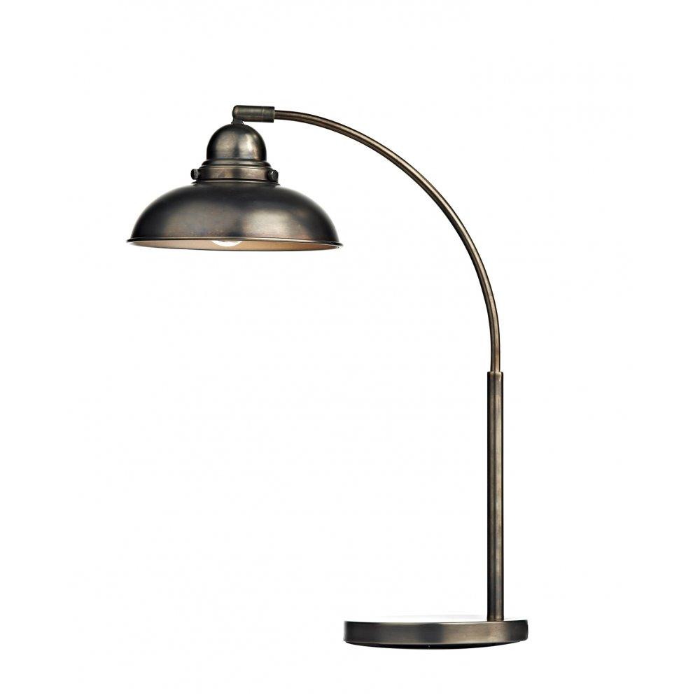 Retro Desk Lamp : Antique chrome vintage retro style desk lamp with