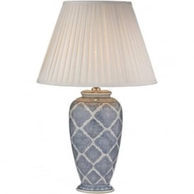 ELY traditional pale blue ceramic base table lamp