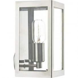 ERA indoor or outdoor chrome wall lantern