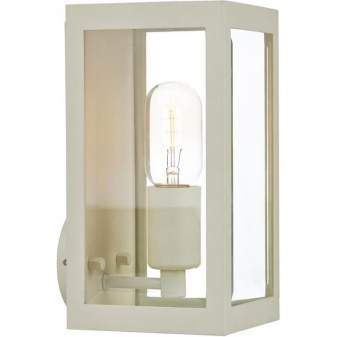 Cream Lantern Style Wall Light for Indoor or Garden Lighting, IP44