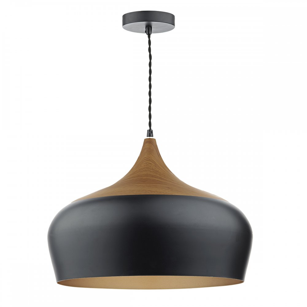 Nordic Style Ceiling Pendant Light In Matt Black With