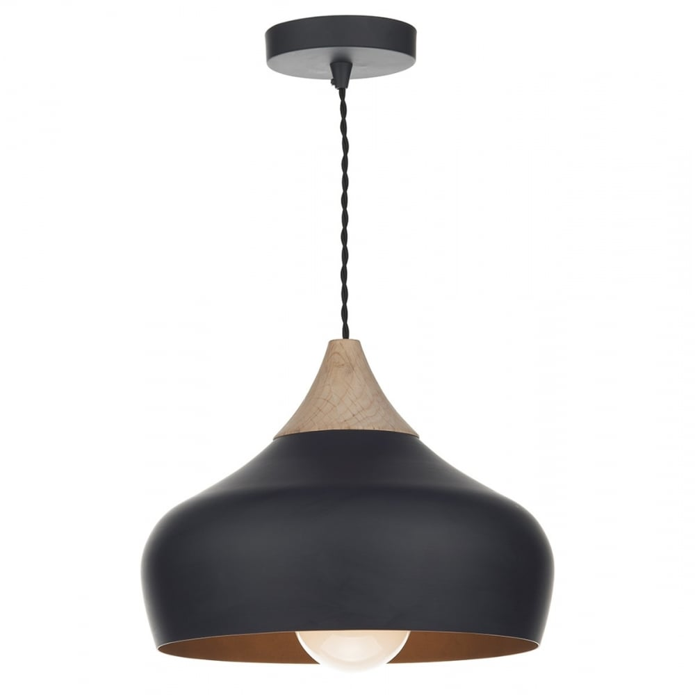 Contemporary Design Matt Black Ceiling Pendant Light With