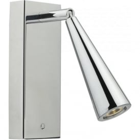 HAGEN hotel style LED over bed reading light - chrome surface mounted