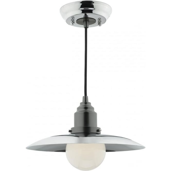 Double Insulated Ceiling Pendant In Retro Style Chrome