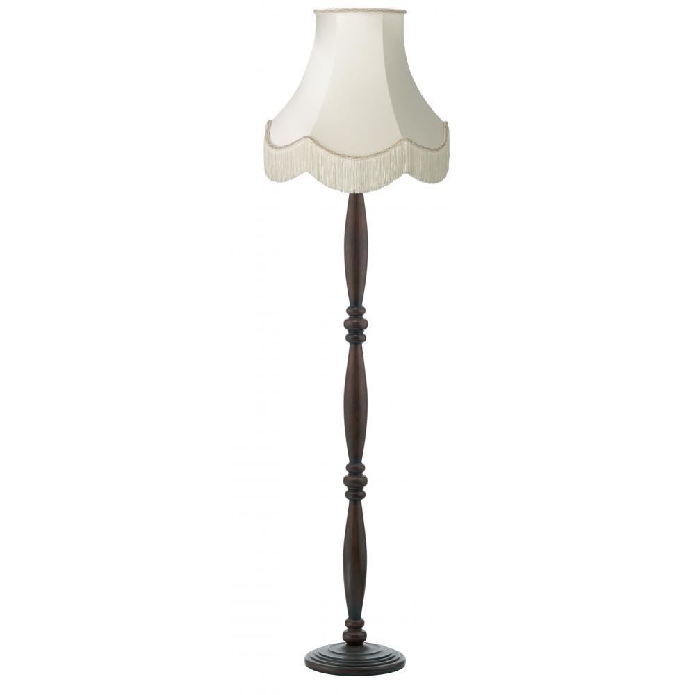 dark brown victorian wooden floor lamp with luxury fringed. Black Bedroom Furniture Sets. Home Design Ideas