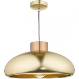 JAYSON double insulated copper and satin brass ceiling pendant