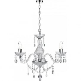 KATIE 3 light double insulated chandelier