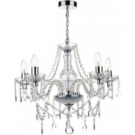 KATIE 5 light double insulated chandelier