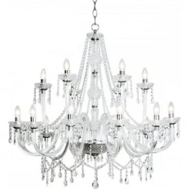 KATIE large 18 light decorative double insulated chandelier