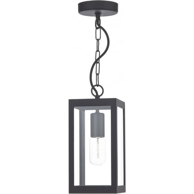 Outdoor Hanging Porch Lights Menards: Black Rectangular Box Shaped Ceiling Pendant Light Or