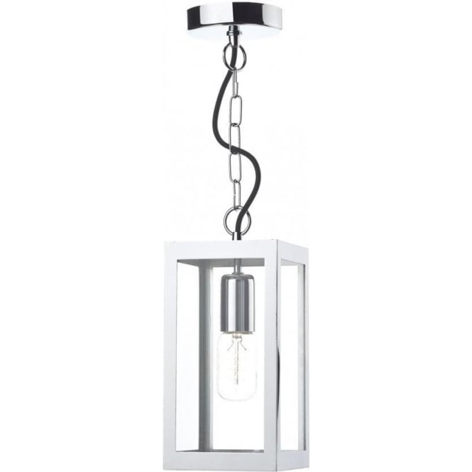 lotus chrome hanging ceiling pendant light or porch light