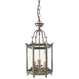 MOORGATE cast brass traditional hall lantern, antique finish