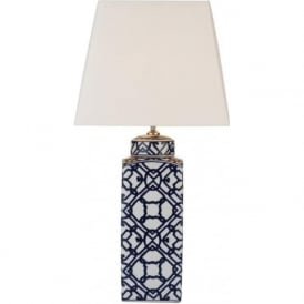 MYSTIC oriental blue and white ceramic table lamp