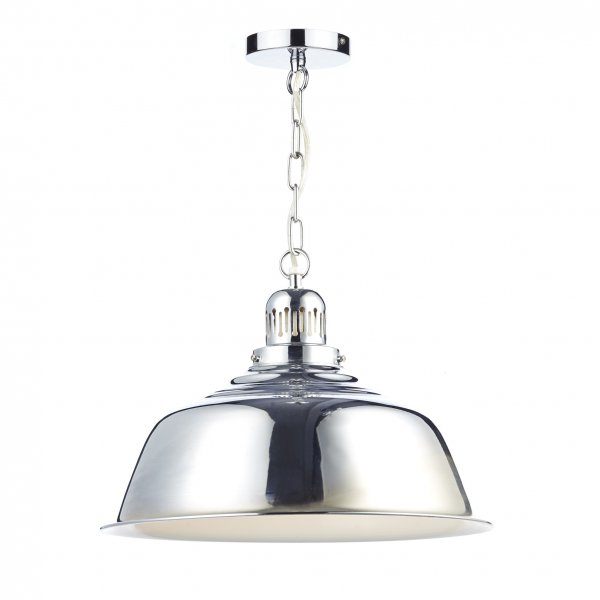 Retro Urban Style Chrome Metal Ceiling Pendant Light