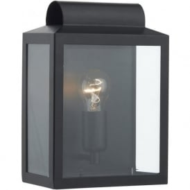 NOTARY indoor or outdoor wall lantern in black finish