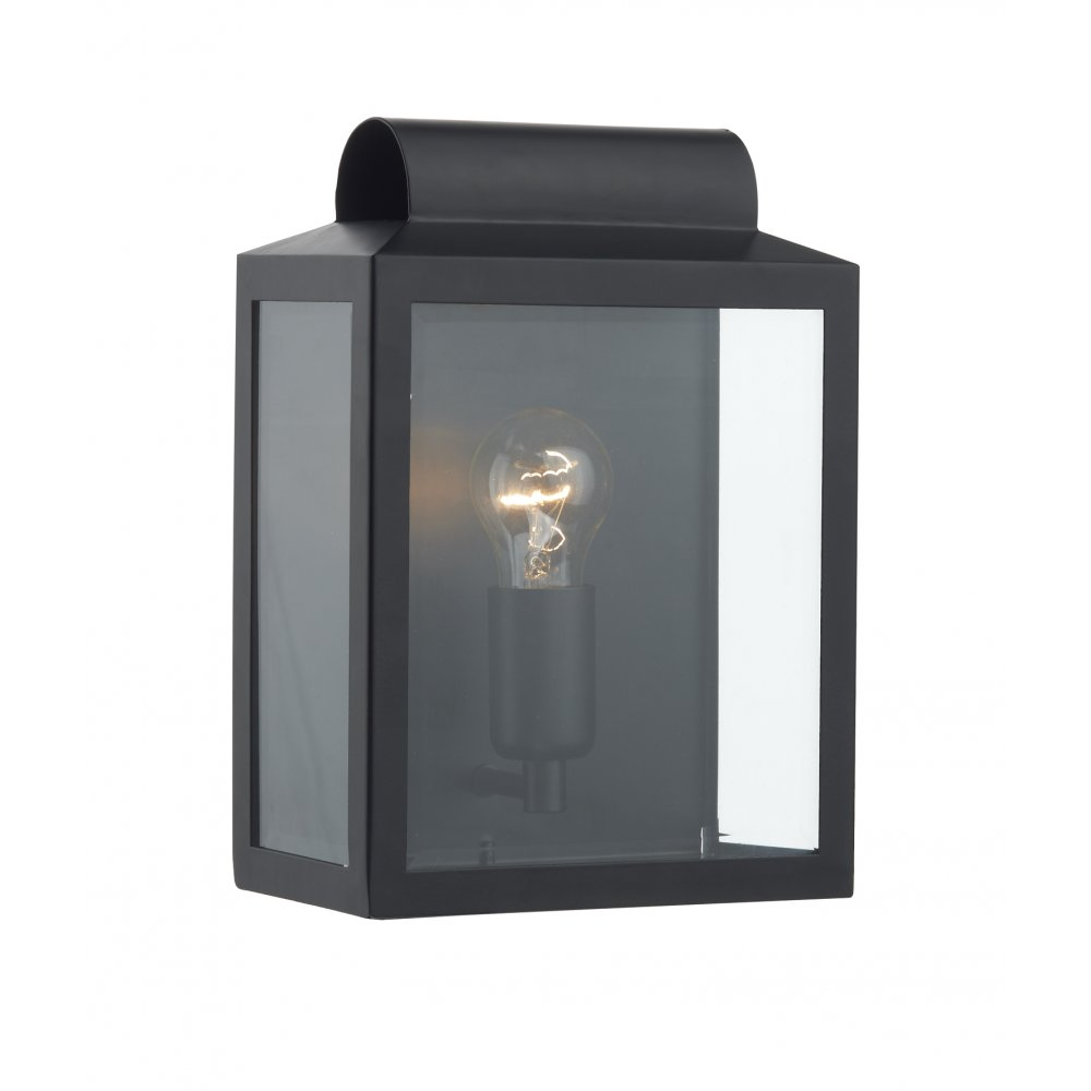 Indoor Lantern Lights: Black Wall Lantern, Notary Flush Fitting Indoor Or Outdoor