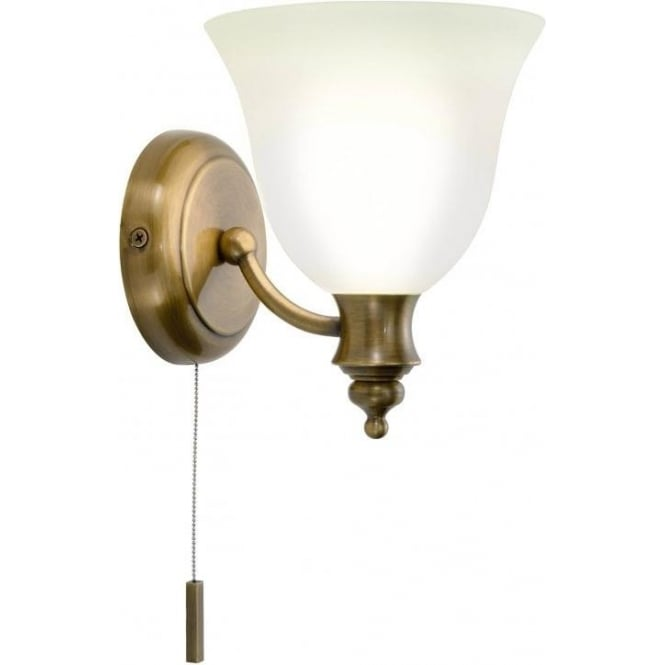 Traditional victorian antique brass period wall light with for Traditional bathroom wall lights
