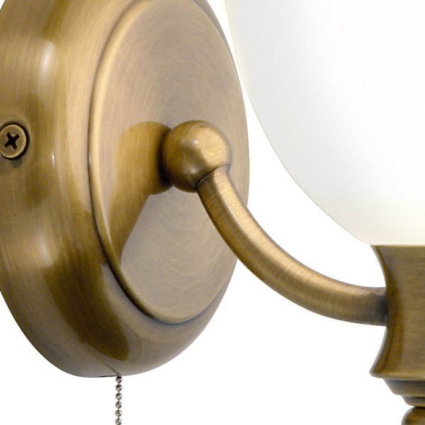 traditional victorian antique brass period wall light with pull switch. Black Bedroom Furniture Sets. Home Design Ideas